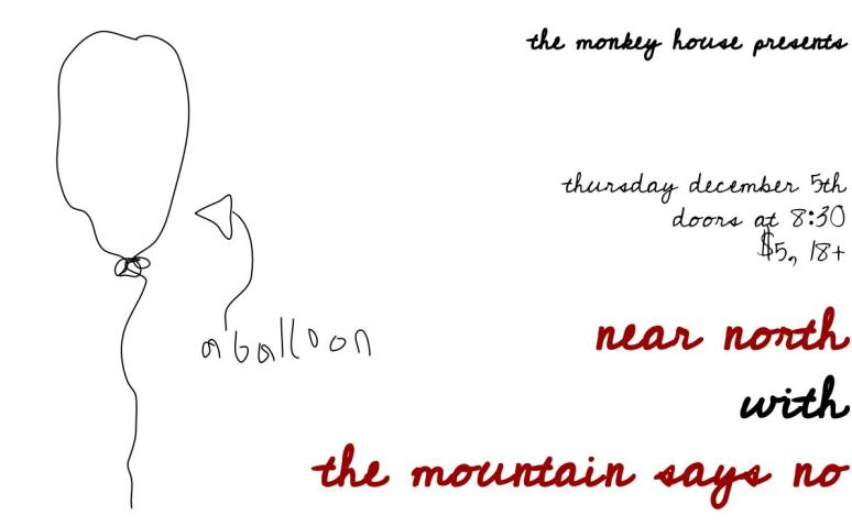 The Monkey House - Winooski, VT w/ The Mountain Says No 12-5-13